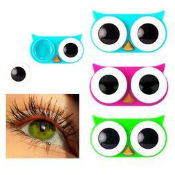 1 Pc Kikkerland Owl Eyes Contact Lens Case Travel Storage So