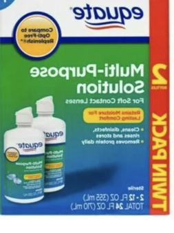 2 Bottles Of Equate Multi- Purpose Solution For Soft Contact