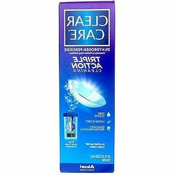 2 Pack Alcon Clear Care Triple Action Cleaning Contact Lens