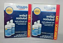2 twin packs contact lens saline solution