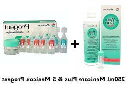 250ml Menicare Plus Contact Lens Solution + Menicon 5 Progen