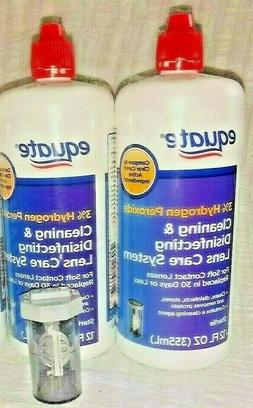 2X Equate 3% Hydrogen Peroxide Cleaning Contact Lens System
