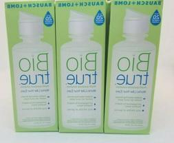 3 Bausch + Lomb Bio True Contact Lens Care Solution Exp 2021