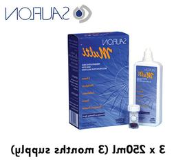 3 Months Sauflon Multi 3 x 250ml Contact Lens Solution one s