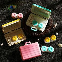 3 Pack Cute Colorful Portable Travel Contact Lens Case - Kit