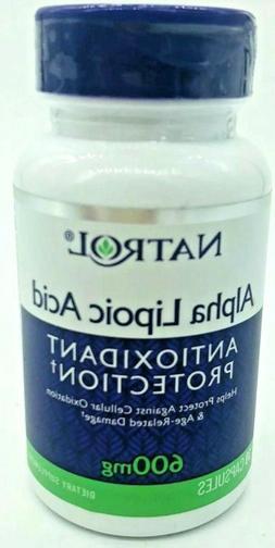 Natrol Alpha Lipoic Acid 600mg Capsules, 30-Count