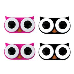 Contact Lens Case Owl Pack of 4 Travel Case Reusable OH Fash