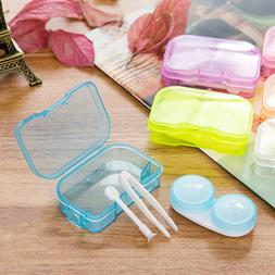 Contact Lens Case Solution Applicator Cute Travel Kit Holder