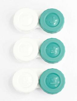 Contact Lens Cases Flat Design FDA Approved 3 Pieces For Con