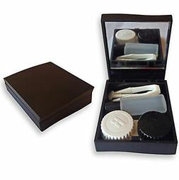 Contact Lens Travel Kit Case ~ Mirror Tweezers & Solution St