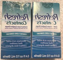 Refresh Contacts Contact Lens Comfort Drops, 0.4oz  EXP: 06/