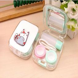 Cute Animals Contact Lens Solution Box Storage Case Holder T
