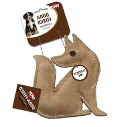 Ethical Pet Dura-Fused 7.5-Inch Leather Dog Toy, Small, Fox