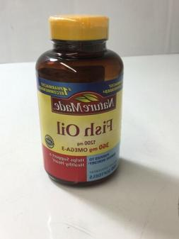 Nature Made Fish Oil 1200 mg Omega-3 360 mg 100 Softgels Exp