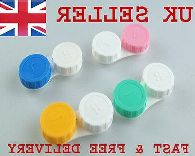 20x contact lens case care colored double