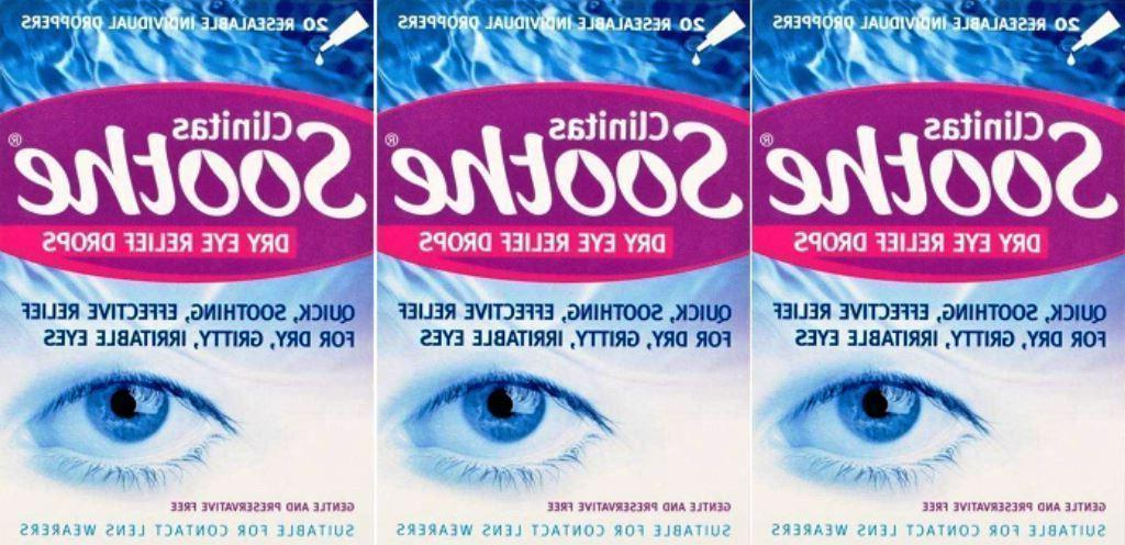 clinitas soothe dry eye drops suitable