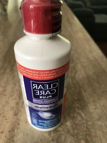 contact lens cleaning disinfecting solution 3 oz