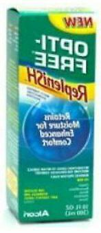 free replenish contact lens solution opti 10