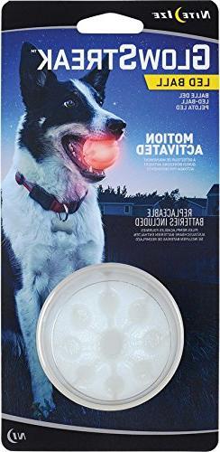 Nite Ize GlowStreak LED Dog Ball, Bounce-Activated Light Up