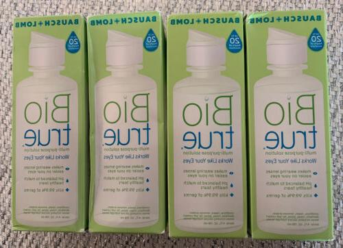 lot of 4 bausch lomb bio true