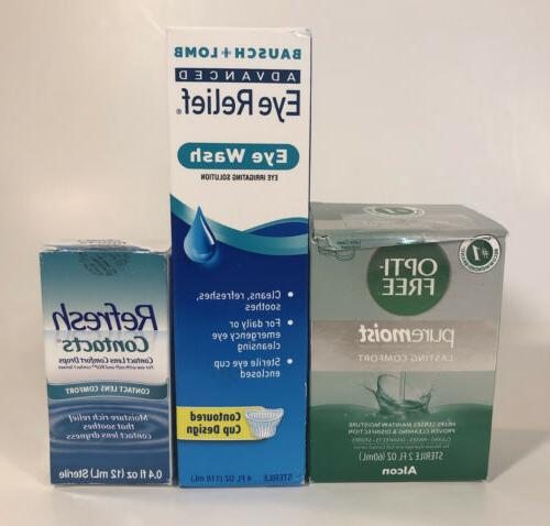 Mixed Bundle - Contact Lens Eye Care Solutions, Opti-Free Re