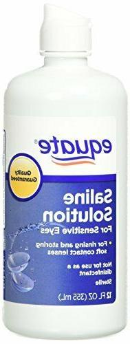 Twin Pack, 12 Fl Oz, Equate Contact Lens Saline Solution for
