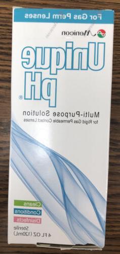 Unique pH -Solution for Gas Permeable Contact Lens 4oz Exp 1