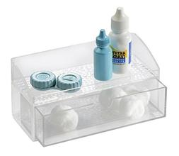 mDesign Bathroom Medicine Cabinet Organizer, for Contact Len