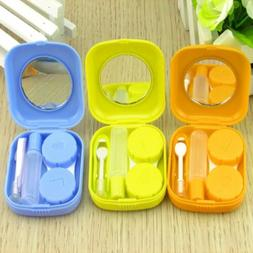 Mini Container Mirror Contact Lens Box Storage Case Solution