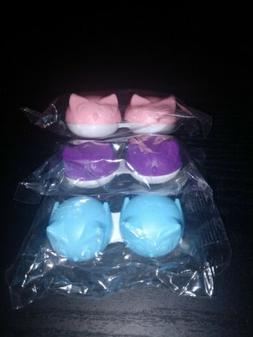 NEW Contact Lens Case Solution Cute Small  Storage Pink Owl