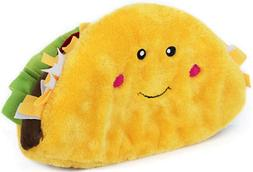 ZippyPaws Nomnomz Jumbo Taco Dog Toy Soft Plush Squeaker 11""