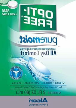 Opti-Free Pure Moist Solution Clean Rinse Contact Lenses Dis