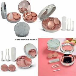 Portable Cute Contact Lens Case Pocket Size Kit W Mirror(M