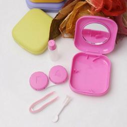 Travel Kit Mini Solution Bottle Tweezers Mirror Contact Lens