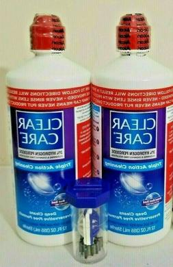 Clear Care Triple Action Cleaning Contact Lens Solution 12oz