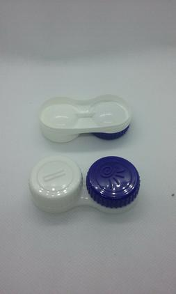Two Contact Lens Case Solution Holder Small Container Storag
