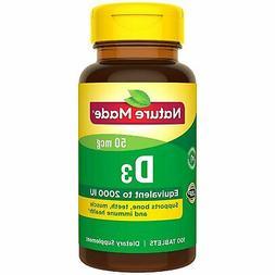 Nature Made Vitamin D3 50 mcg 2,000 IU Dietary Supplement 10
